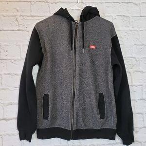 Van's Full-zip Hoodie Black/Gray Men's Small